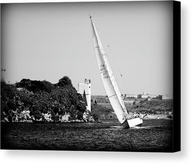 Tall Ship Canvas Print featuring the photograph Tall Ship Race 1 by Pedro Cardona Llambias