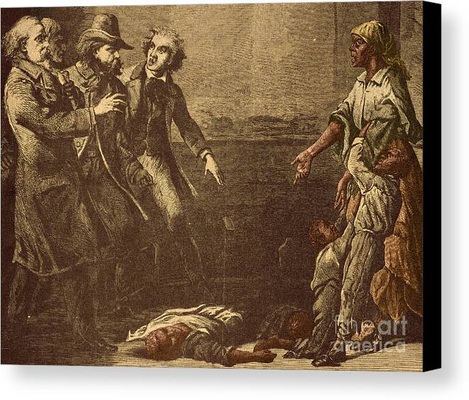 America Canvas Print featuring the photograph The Capture Of Margaret Garner by Photo Researchers