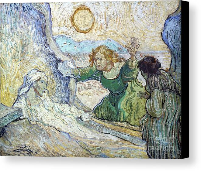 1890 Canvas Print featuring the photograph Van Gogh: Lazarus by Granger