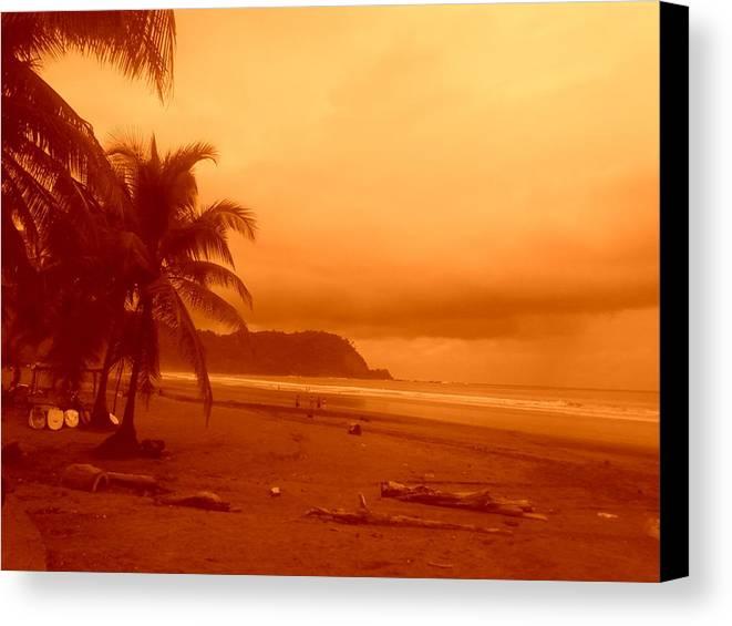 Jaco Beach Costa Rica Canvas Print featuring the photograph Jaco Beach Costa Rica by Robert Cunningham