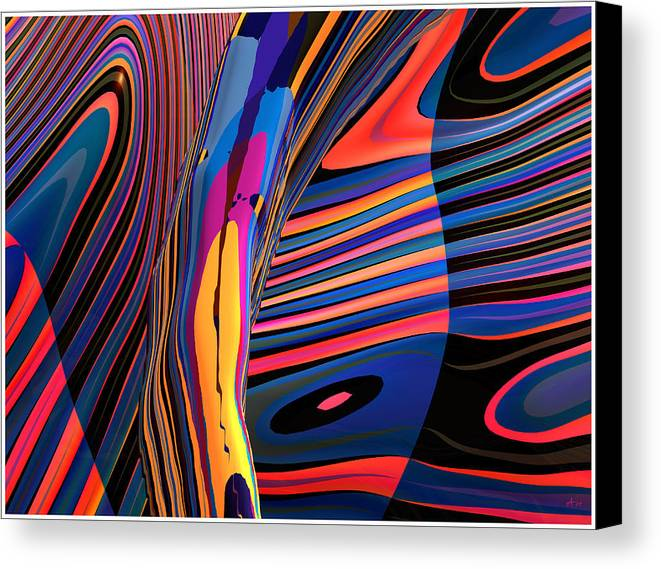 Abstract Art; Digital Fine Art; 3-d Rendering Canvas Print featuring the digital art Kaleido-fa-callig. 10x11m37 Wide 11i by Terry Anderson