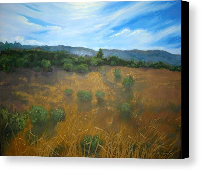 Landscape Canvas Print featuring the painting Looking Back To Betteravia by Jill Iversen
