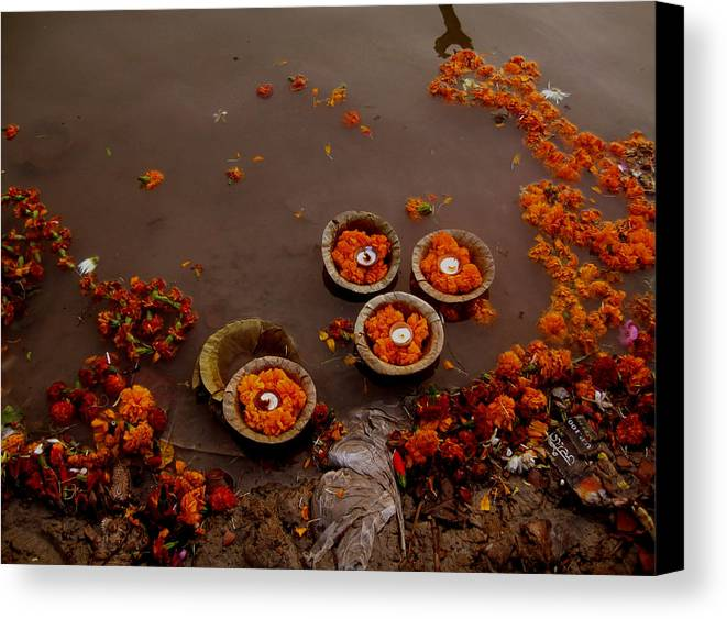 India Canvas Print featuring the photograph Morning Prayer by Art Nomad Sandra Hansen