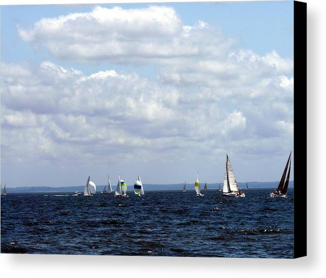 Sailboat Canvas Print featuring the photograph Sailing by Kendall Eutemey