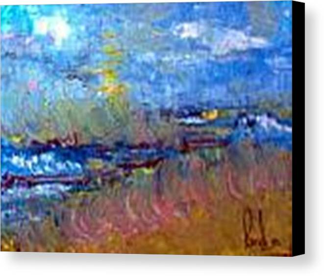 Canvas Print featuring the painting The Sea by Carol P Kingsley