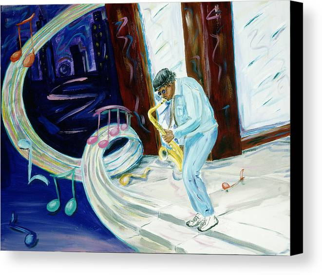 Kevin Callahan Canvas Print featuring the painting 6th Avenue Blues by Kevin Callahan