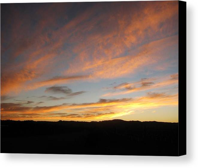 Sunset Canvas Print featuring the photograph 92615 Sunset by Carol Welsh