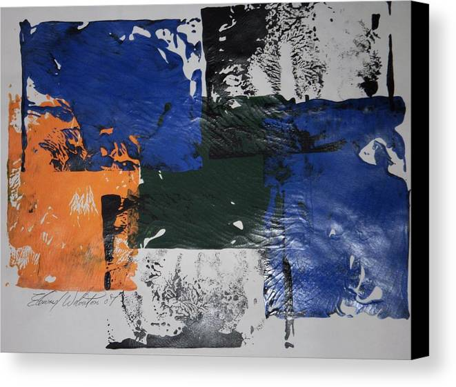 Abstract Canvas Print featuring the painting A Crock In The Septic Tank by Edward Wolverton