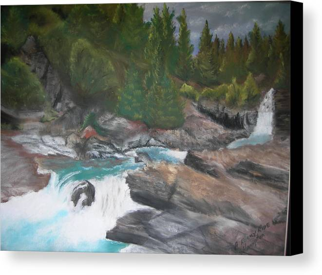 Landscape Canvas Print featuring the painting A Rocky Ride by Jack Hampton