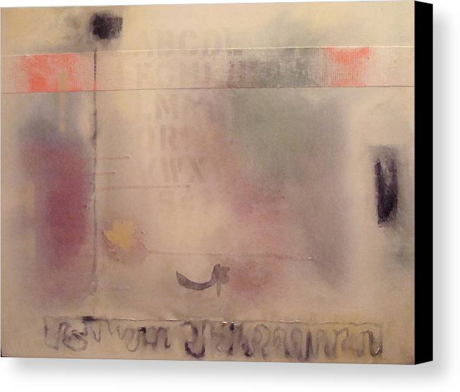 Abstract Canvas Print featuring the painting A Thought Of Stillness by W Todd Durrance