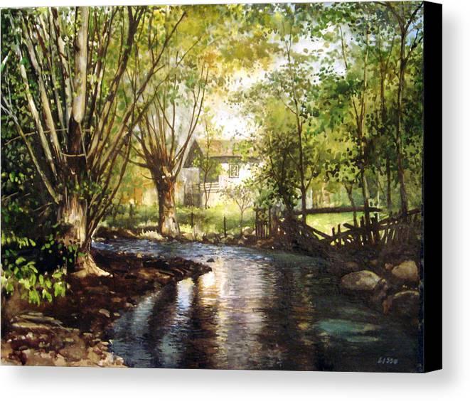 Landscape Canvas Print featuring the pastel across Bulgaria 4 by Stoian Pavlov