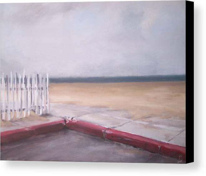 Rain Newport Beach Canvas Print featuring the painting After The Rain Newport Beach by Philip Fleischer