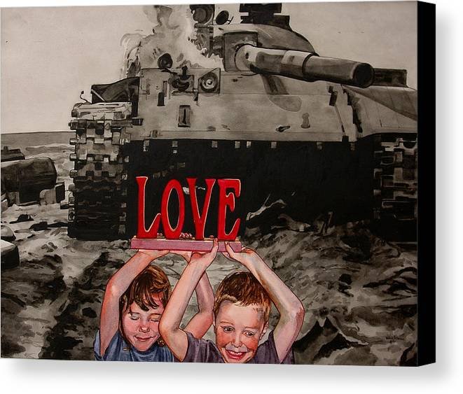 Political Canvas Print featuring the painting All You Need Is... by Valerie Patterson
