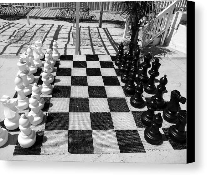 Jamaica Canvas Print featuring the photograph Anyone For Chess by Debbie Oppermann