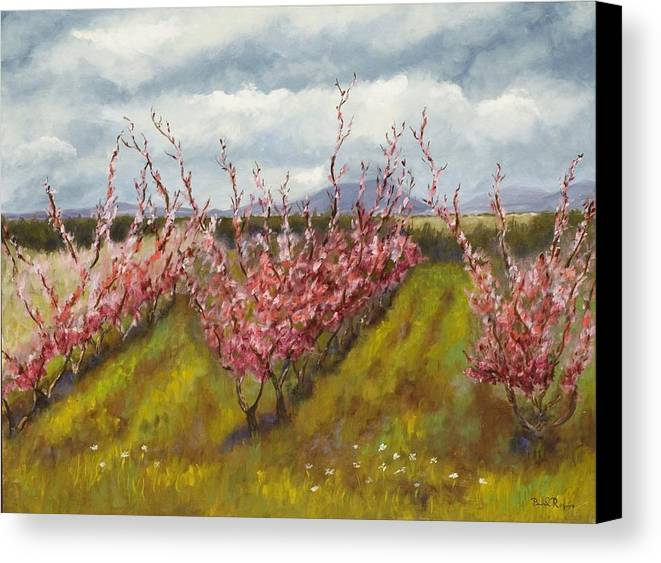 Apple Tree Canvas Print featuring the painting Apple Hill Springtime by Brenda Williams