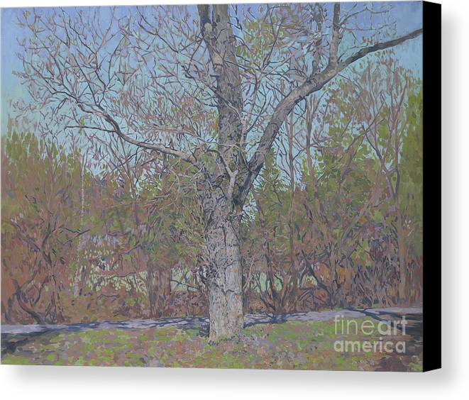 April Canvas Print featuring the painting April by Simon Kozhin