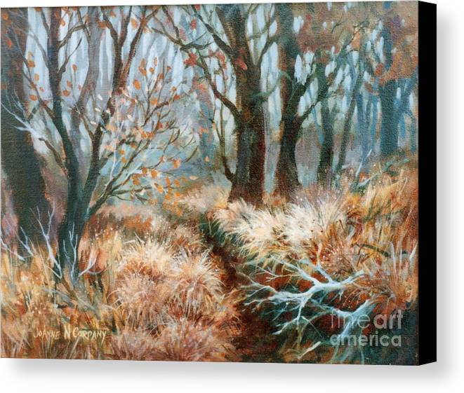 Autumn Canvas Print featuring the painting Autumn Brush by JoAnne Corpany