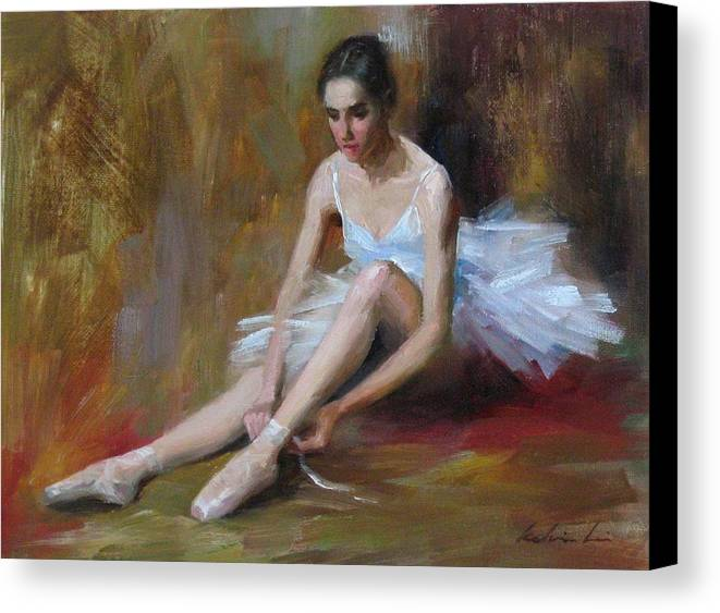 Figurative Canvas Print featuring the painting Ballerina D by Kelvin Lei