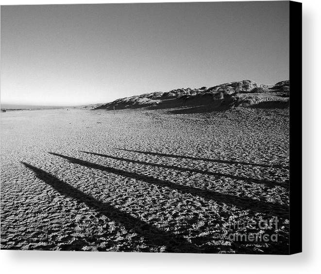 Landscape Canvas Print featuring the photograph Beach With Shadows by Sascha Meyer