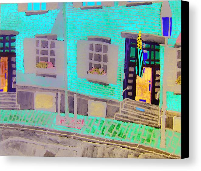 Beacon Hill Canvas Print featuring the painting Beacon Hill by Sean Cusack