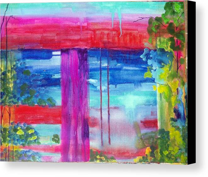 Landscape Canvas Print featuring the painting Beyond The Canvas by Maritza Bermudez