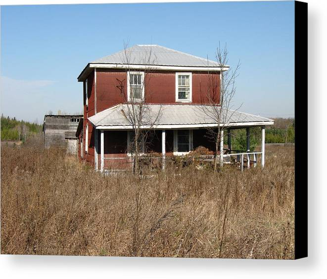 Abandoned Farmhouses Canvas Print featuring the photograph Blow Out The Candles by Richard Stanford