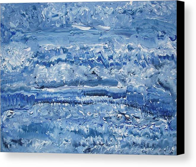 Abstract Canvas Print featuring the painting Blue Malachite by Levi Porter