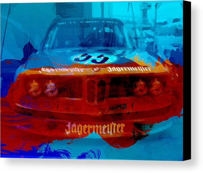 Canvas Print featuring the photograph Bmw Jagermeister by Naxart Studio