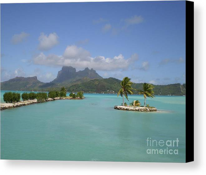 Bora Bora Airport View Canvas Print featuring the photograph Bora Bora Airport View by Paul Jessop