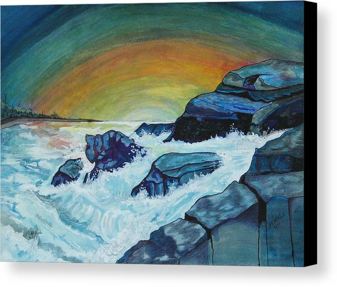 Water Canvas Print featuring the painting Breeze by Willie McNeal