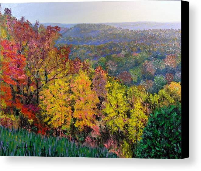 Fall Canvas Print featuring the painting Brown County Vista by Stan Hamilton
