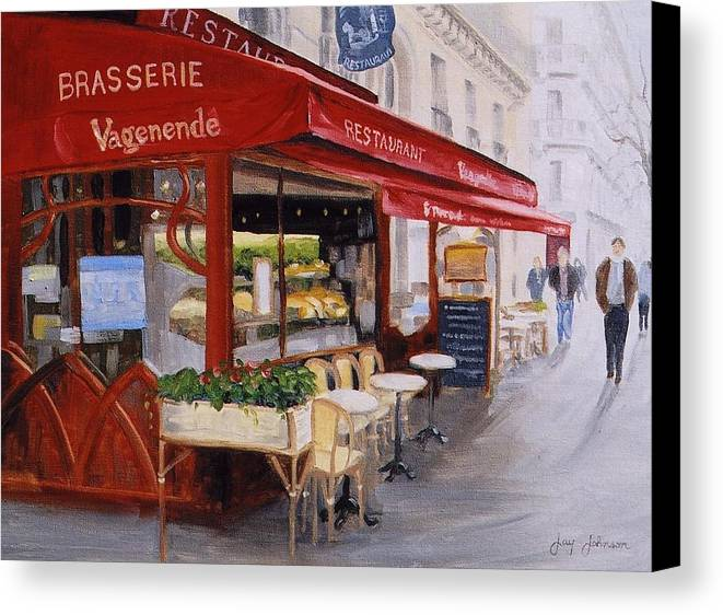 Cafe Canvas Print featuring the painting Cafe 4 by Jay Johnson