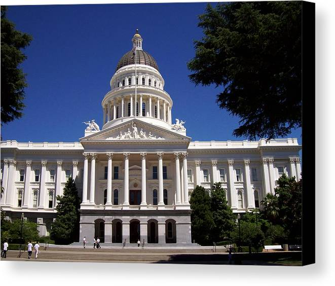 California Canvas Print featuring the photograph California Capitol by Tracy Dugas