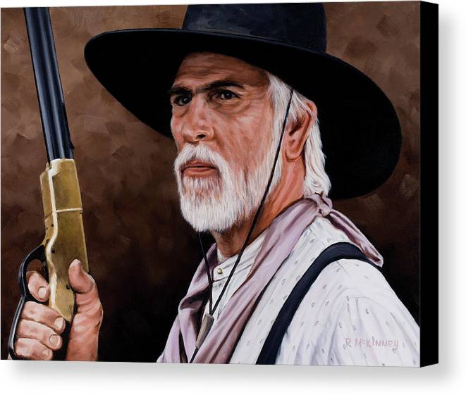 Lonesome Dove Canvas Print featuring the painting Captain Woodrow F Call by Rick McKinney