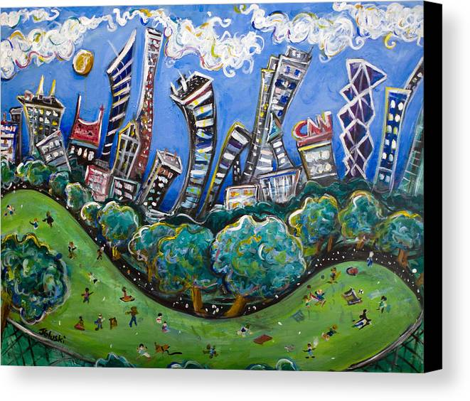 New York City Canvas Print featuring the painting Central Park South by Jason Gluskin