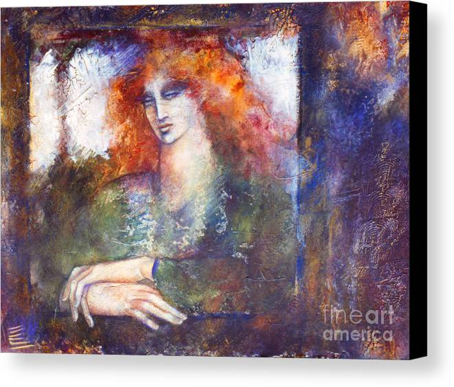 Figure Canvas Print featuring the painting Cerridwen by Marne Adler