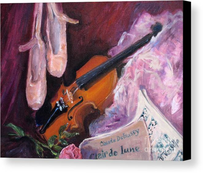 Clair De Lune Canvas Print featuring the painting Clair De Lune by B Rossitto