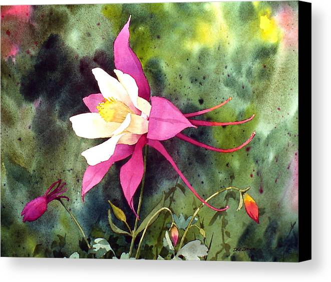 Flowers Canvas Print featuring the painting Columbine by Faye Ziegler