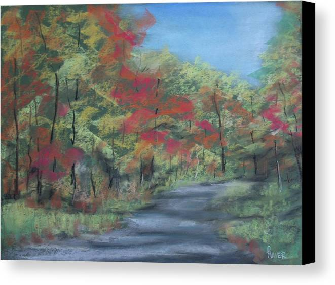 Landscape Canvas Print featuring the painting Country Road II by Pete Maier