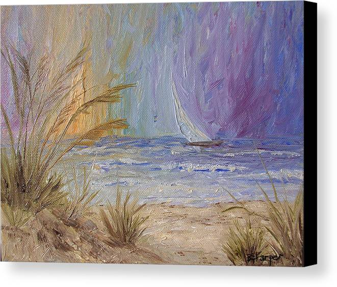 Sailboats Canvas Print featuring the painting Cruising The Ocean by Barbara Harper