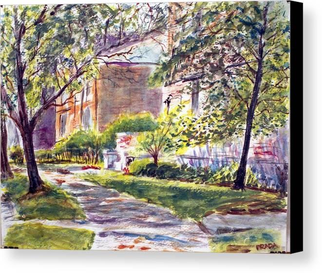 Landscape Canvas Print featuring the painting Dia Luminoso by Horacio Prada