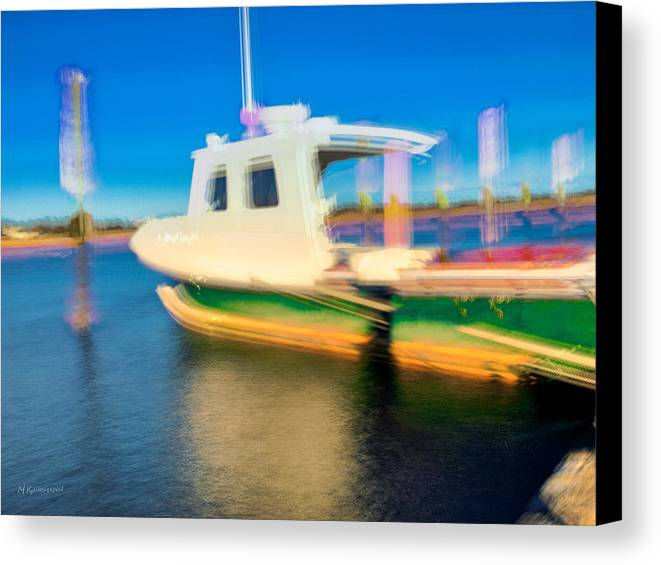 Photograph Canvas Print featuring the photograph Docked Wellfleet Harbor by Marc Kundmann