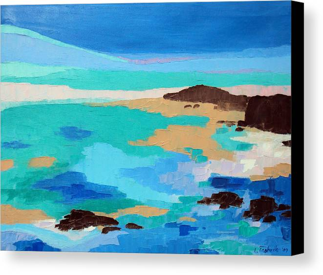 Maine Canvas Print featuring the painting Dream Scape 14 by Laura Tasheiko