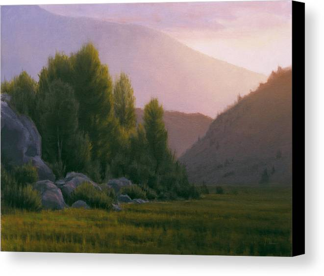 Landscape Canvas Print featuring the painting Evening Grace by Joe Mancuso