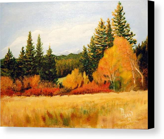 Landscape Canvas Print featuring the painting Fall In Chattaroy by Mark Farr