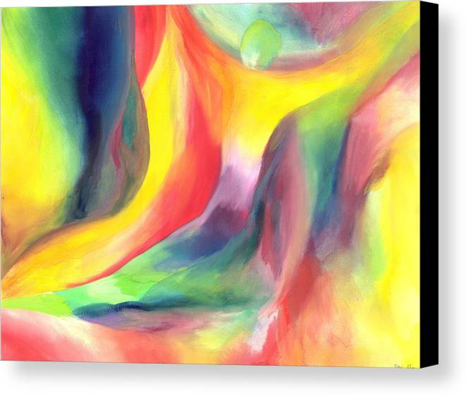 Abstract Canvas Print featuring the painting Falling by Peter Shor