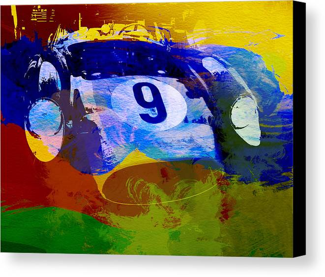 Naxart Canvas Print featuring the digital art Ferrari Testarossa Watercolor by Naxart Studio