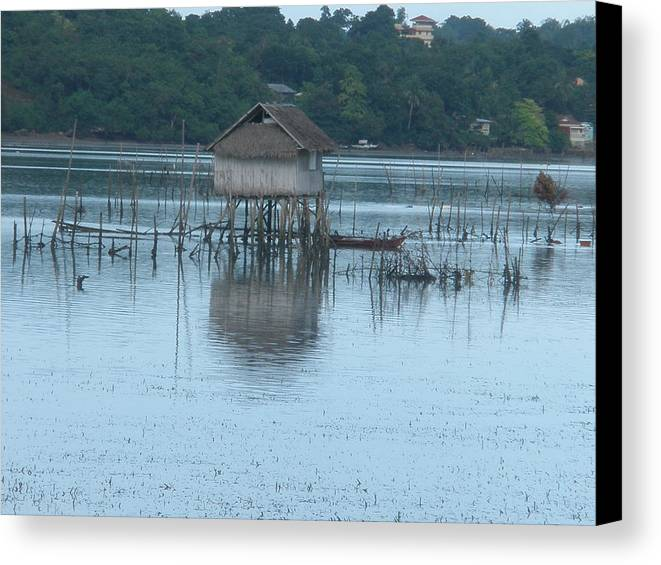 Fish House Canvas Print featuring the photograph Fish House by Robert Cunningham