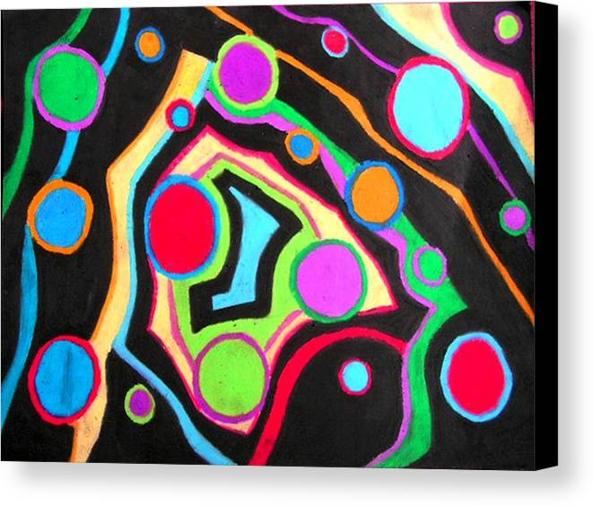 Abstract Canvas Print featuring the drawing Fish Out Of Water by Katina Cote