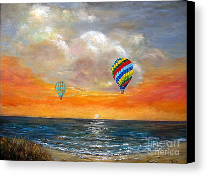 Landscape Canvas Print featuring the painting Fly Away 22 by Jeannette Ulrich